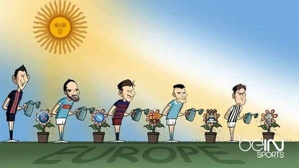 Argentyńscy piłkarze w Europie Di Maria Higuain Messi Aguero Dybala #football #soccer #sports #pilkanozna