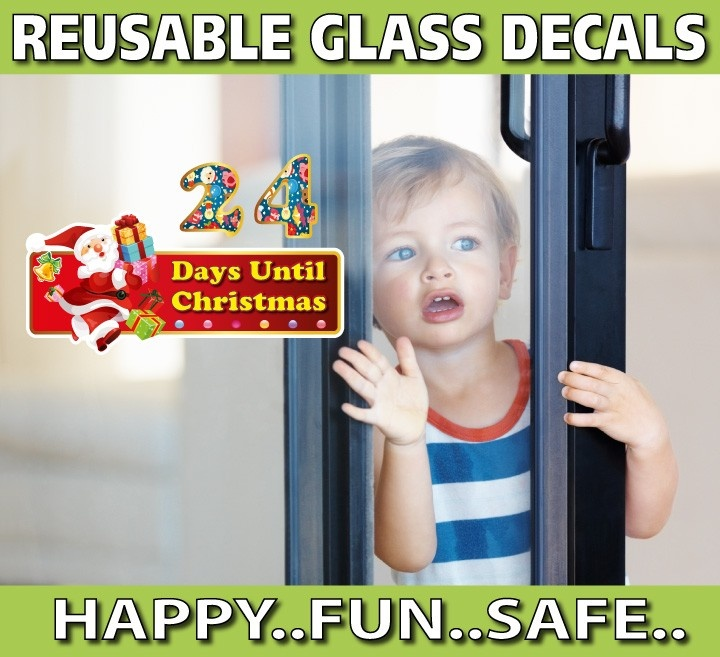 smartwalling, REUSABLE Window decals - Christmas Countdown Window Decal - Totally Reusable, $5.95 (http://www.wholesaleprinters.com.au/christmas-countdown-window-decal-totally-reusable)