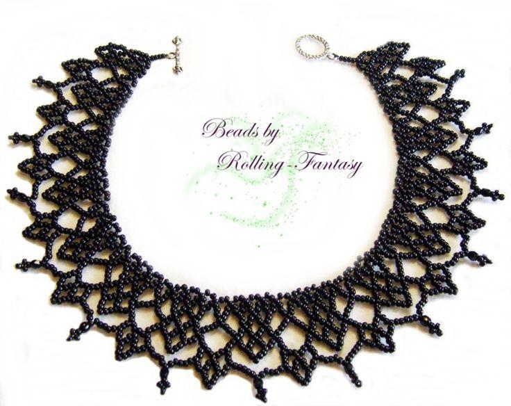 Collier aus Miyuki Rocailles und Glasschliffperlen von Beads by Rolling-Fantasy auf DaWanda.com