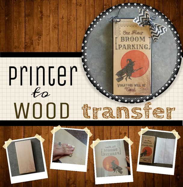 """Print on Wood"" - How to Guide.  No fuss, no mess...impress your craftiest of friends :) NOT waxed paper...this actually works!"