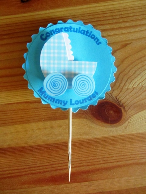 cupcake topper for baby shower