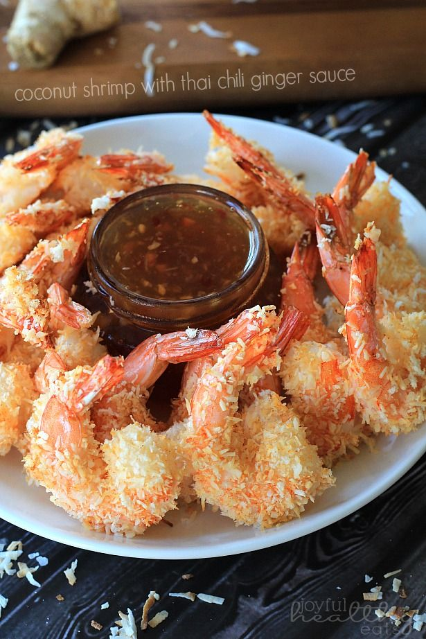 Can't stop poppin these in my mouth! Coconut Shrimp with Thai Chili Ginger Sauce    www.joyfulhealthyeats.com