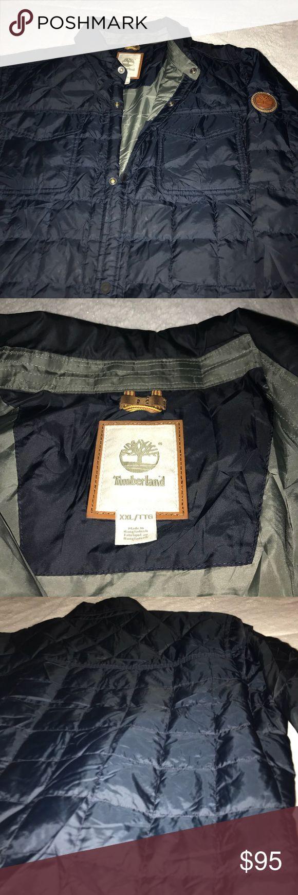 Men's Navy Timberland Jacket Navy Blue Perfect condition 100% polyester 7 pockets 3 inside pockets Timberland Jackets & Coats