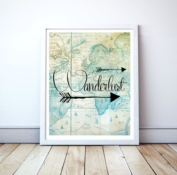 Wanderlust, Travel Poster, Travel Printable,Travel Quote, Travel Decor, Travel Download, Travel Print, Travel Digital Download 0234