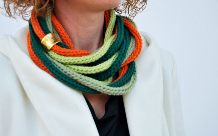 Handmade scarf in multi color