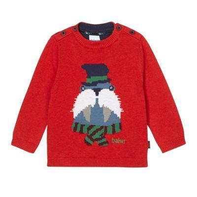 Baker by Ted Baker Babies red walrus knit jumper- £22 at Debenhams.com