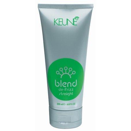 Keune Blend De-Frizz Straight Keune Blend De-Frizz Straight De-Frizz Straight är en ultimat återfuktande och utjämnade kräm för att hålla håret rakt, smidig och fritt från frizz. Lämplig för frizzigt och lockigt hår. Ger hållbara resultat för raka och släta stilar. Applicera i fuktigt hår före föning. 185 kr