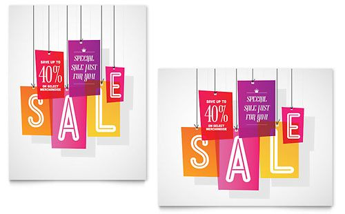 Clearance Tag Sale Poster - Word & Publisher Template