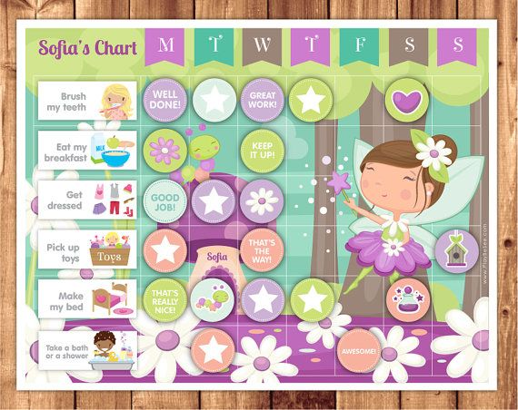 Calendario de recompensas hada para imprimir / por LittleGraphics
