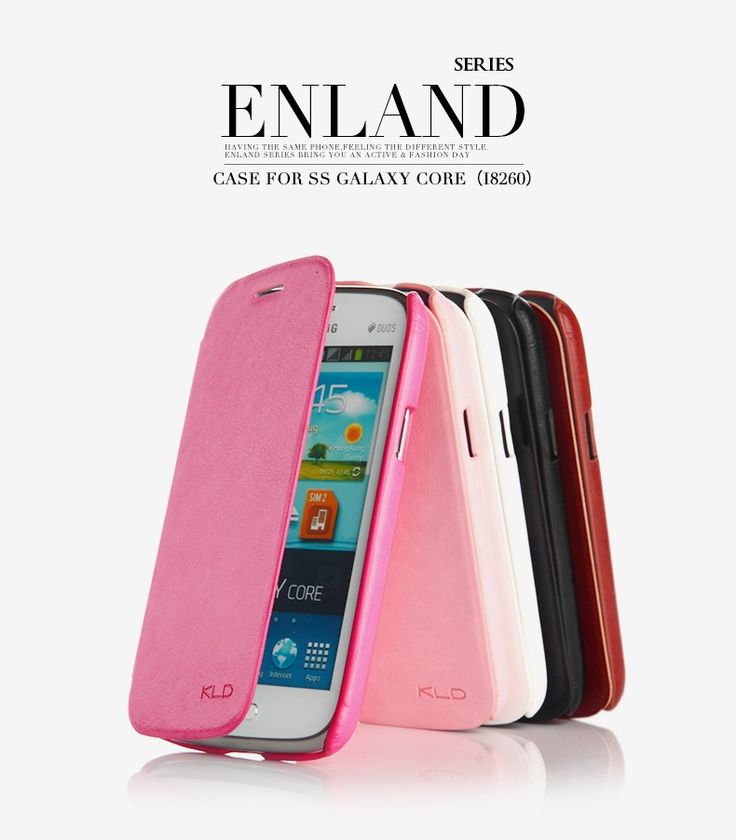 Orginal Brand Kalaideng Luxury Leather Flip Case Cover For Samsung Galaxy Core i8260 Enland Series Cover Free Shipping-in Phone Bags & Cases from Electronics on Aliexpress.com