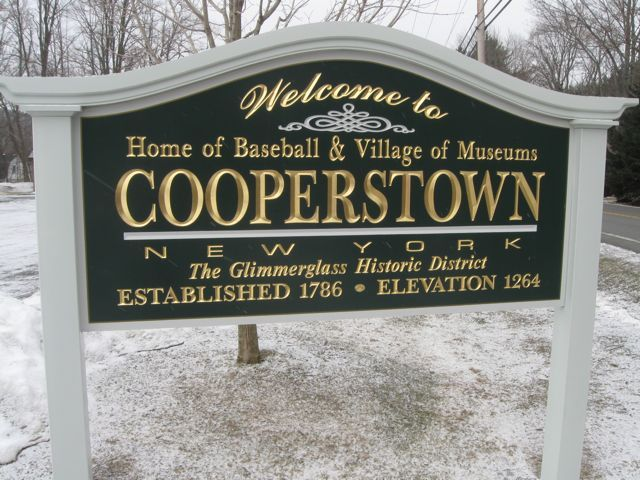 Cooperstown NY, home to the baseball hall of fame.