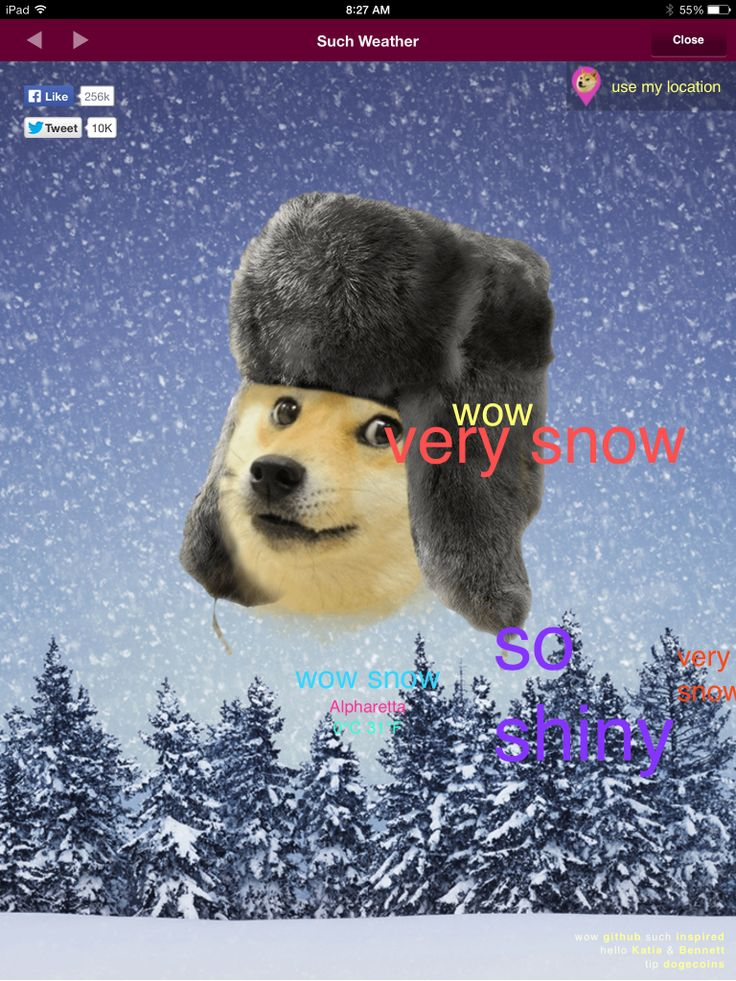 Doge weather.com. So fun, much weather!  Hahaha