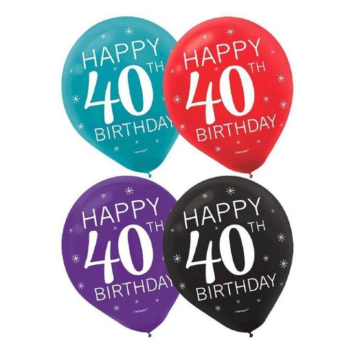 Happy 40th Birthday Party Balloons Collection, Set of 30
