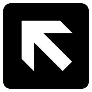 Forward and Left Arrow sign