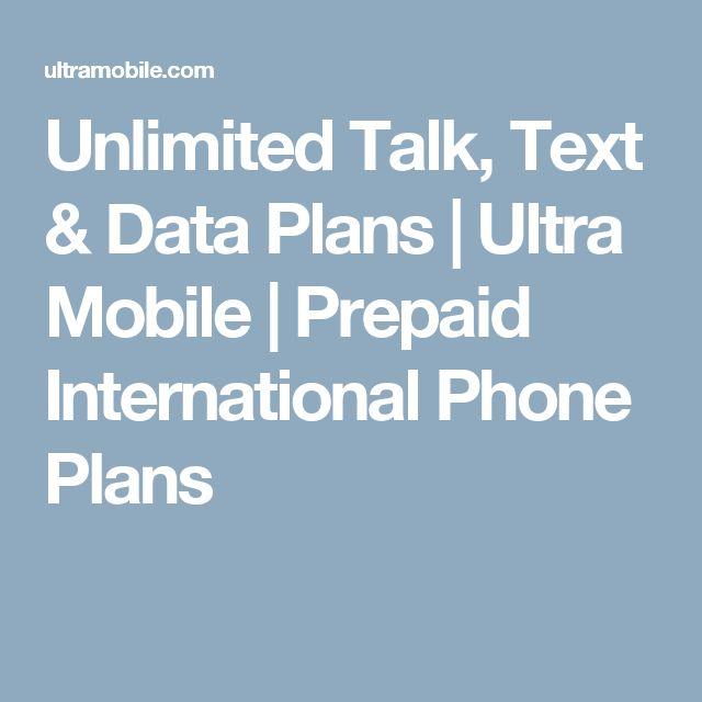 Unlimited Talk, Text & Data Plans   Ultra Mobile   Prepaid International Phone Plans