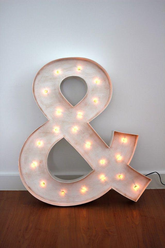 letras de madera luminoso ampersand hermanas bolena