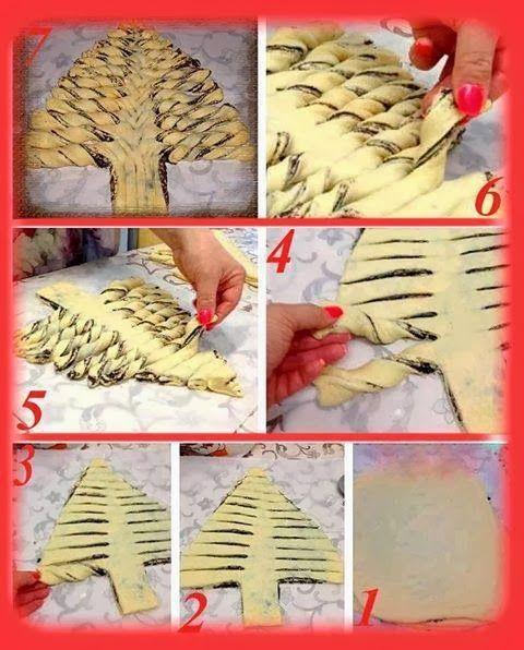 Come fare albero di pan brioche alla nutella