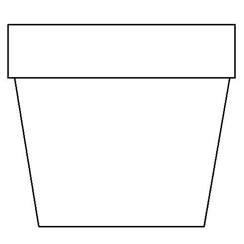 Striking image for printable flower pot