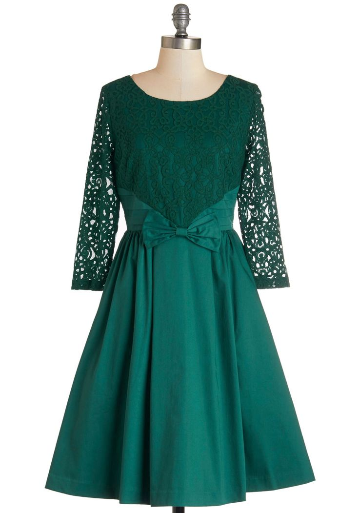 Tough Entre'acte to Follow Dress in Emerald. After an ovation-worthy debut, youre taking the spotlight at the after party in this emerald dress, found exclusively at ModCloth! #green #modcloth