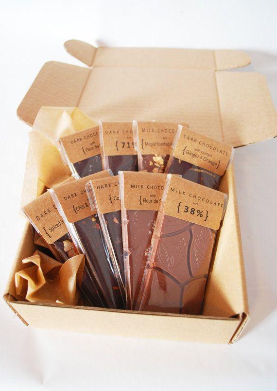 Sistema de 9 barras de Chocolate de orgánico y de por COCOAandHONEY