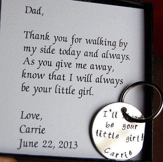 Father of the Bride Keychain, Gift for Father of the Bride, Personalized keychain, thank you Dad via Etsy