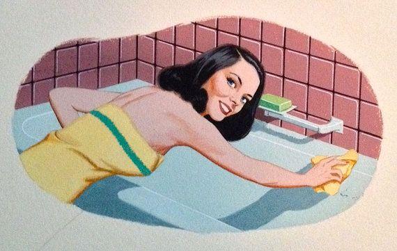 Vintage illustratie MIDCENTURY moderne van VANGUARDGALLERY op Etsy