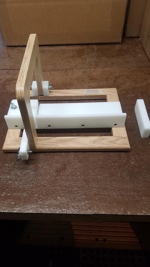 Single Soap Cutter HDPE soap cutter wire soap loaf cutter adjustable stop wooden