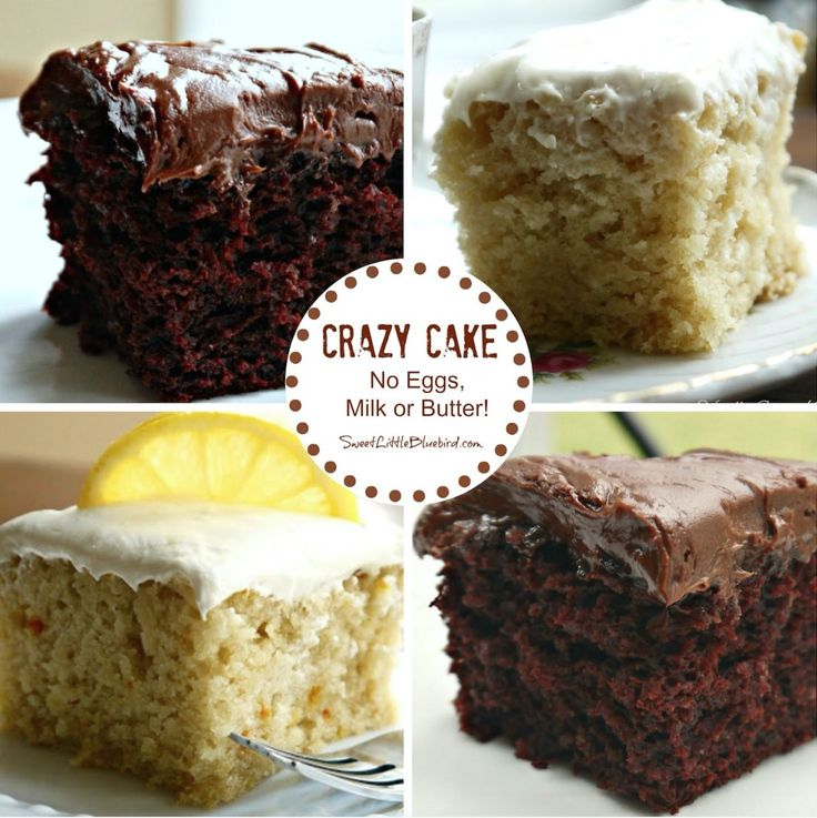 This Crazy Cake recipe dates back to the Great Depression. It has no eggs, milk, butter, bowls or mixers yet is so moist and delicious! It's ideal for anyone with egg or dairy allergies. You can make a Chocolate, Vanilla, Lemon, Coffee or Kahlua version. You will love the moist results!
