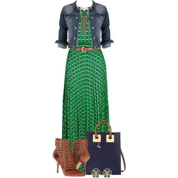 """""""Fall Maxi Dress"""" by kiffanyl on Polyvore"""