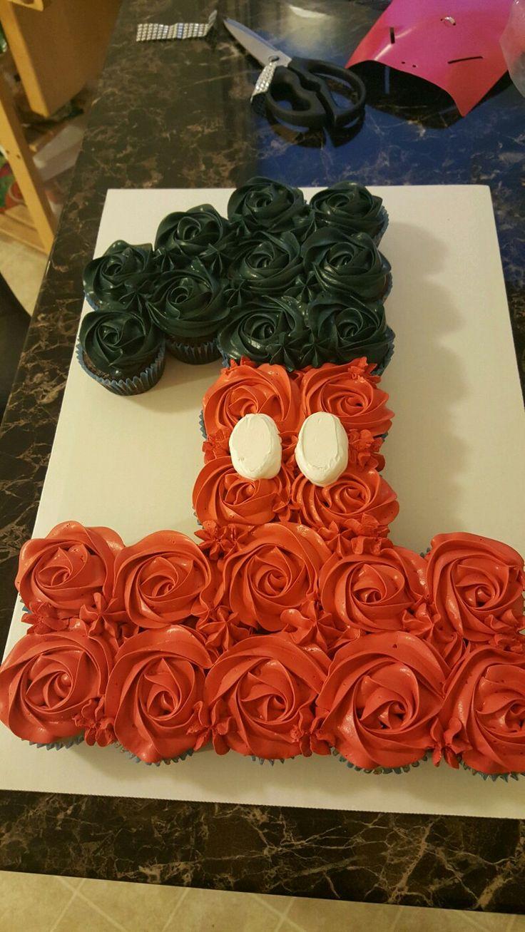 #1 mickey pull apart cupcake cake (cupcake icing kids)