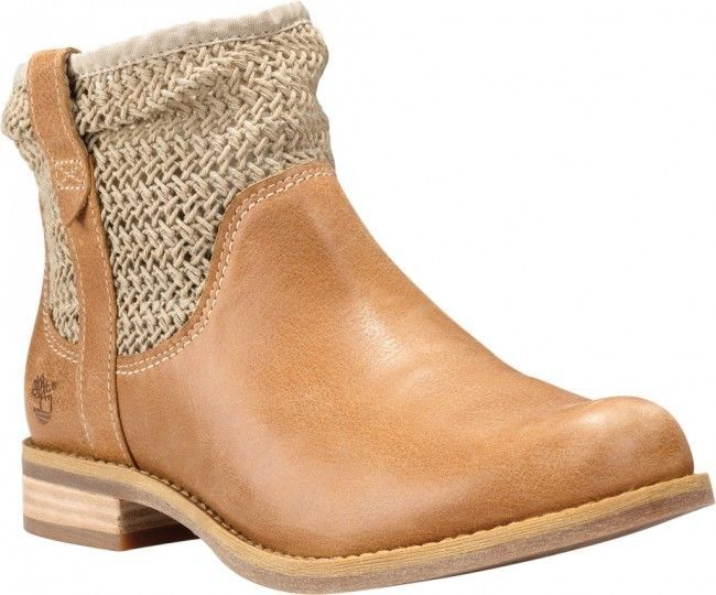 TIMBERLAND SALE Savin Hill Open Weave Ankle Tan Leather Boots Booties 10M #Timberland #AnkleBoots
