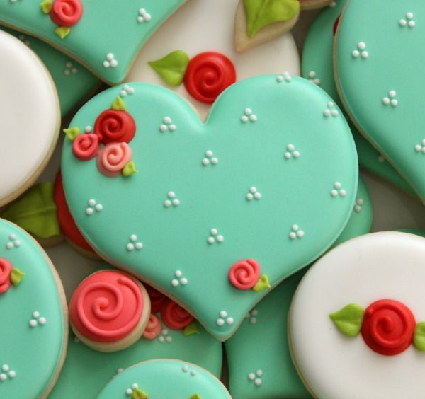 "Valentine's Day is almost here, and what better way to say, ""I love you,"" than delicious, decorated sugar cookies? Here's how to make these cute cookies."