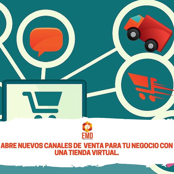 Entra en el mundo de las ventas online con tu tienda virtual, nosotros te ayudamos! #EMD #MarketingDigital #Tiendas