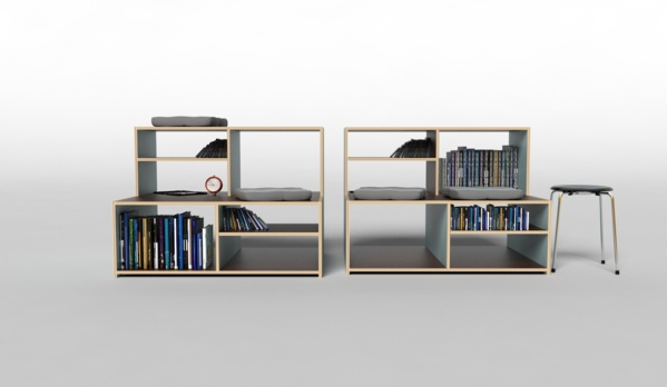 furniture for small rooms by David NEVARIL, via Behance