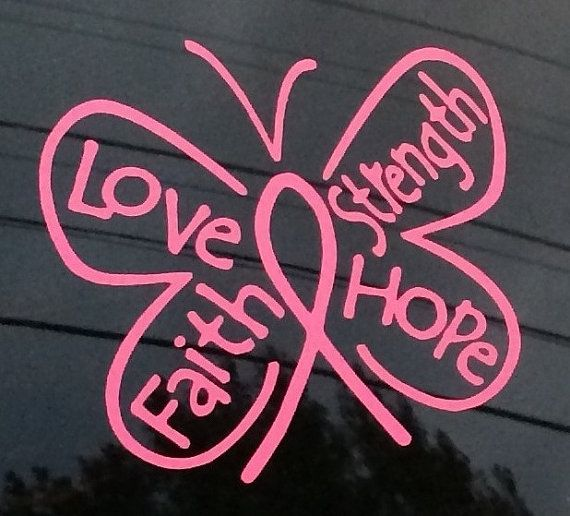 Breast Cancer Awareness Butterfly Car Decal by MrsChicBoutique, $4.50