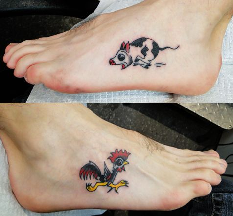 Sailor jerry pig and rooster tattoo pictures to pin on for Pig and rooster tattoo meaning