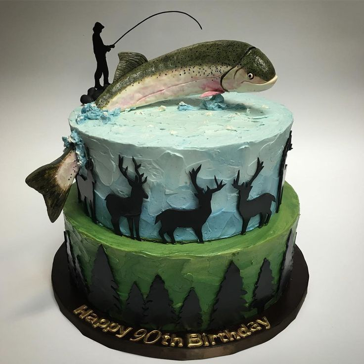 Trout And Fisherman Cake