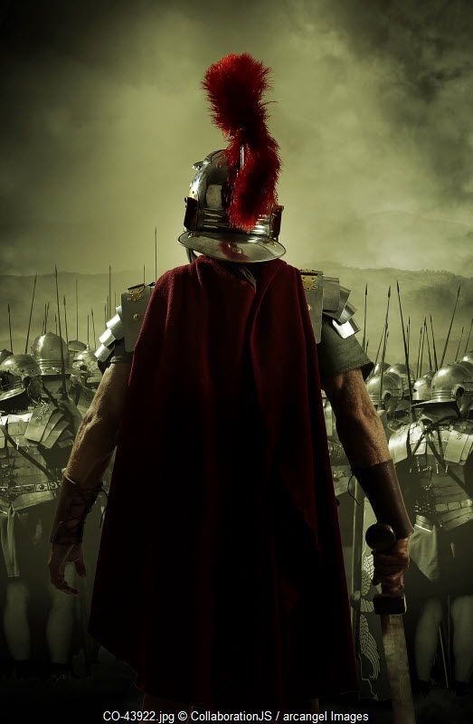 A roman soldier rear guard © CollaborationJS / Arcangel Images