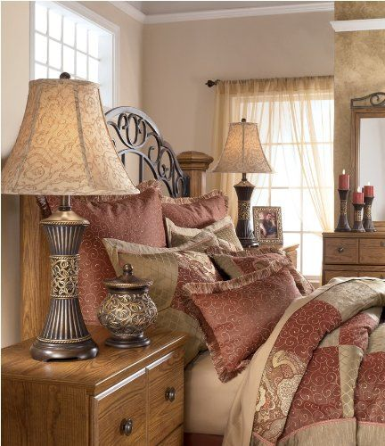 Signature Design By Ashley Mariana H Table Lamp With Bell Shade