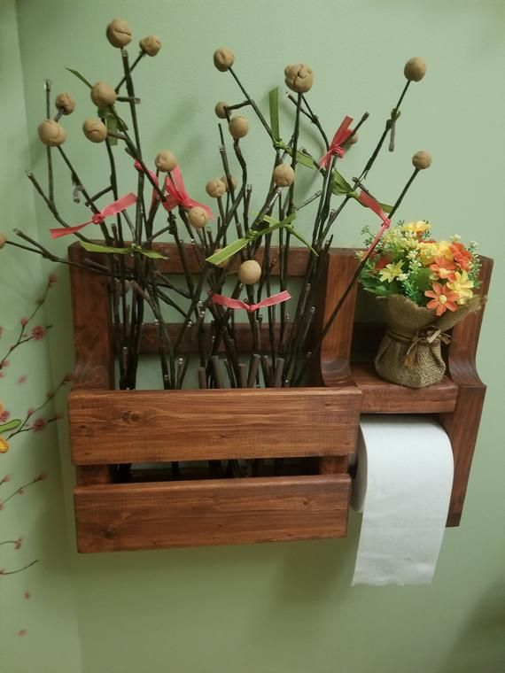 This is a toilet paper holder/magazine rack was made from pine lumber- it has be…   – Projects
