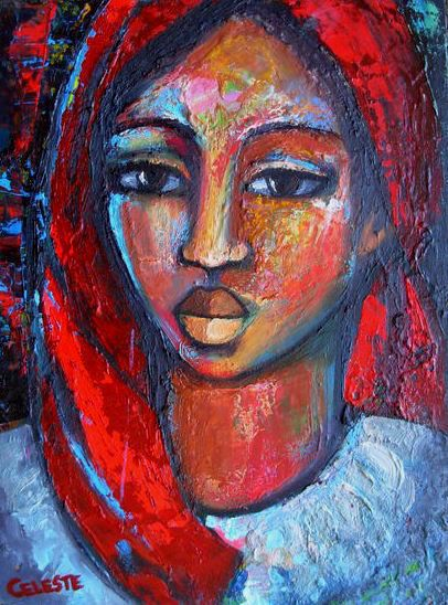 Paintings - RUTH - AN ORIGINAL PAINTING BY OVERBERG ARTIST CELESTE FOURIE-WIID for sale in Hermanus (ID:256892759)