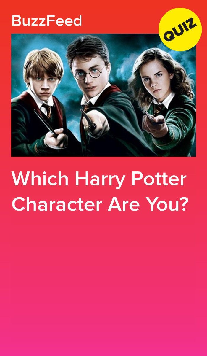Which Harry Potter Character Are You? | Quizzes | Harry