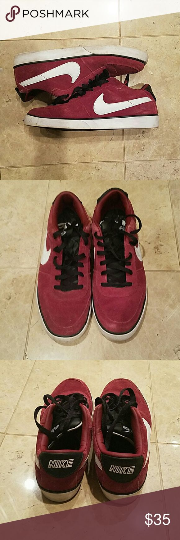 Men's Nike Shoes Size 11 Condition 8.5/10 mens nike 6.0 sjoes colors consist of burgundy white and black. Skateboard shoes i believe. Nike Shoes Sneakers