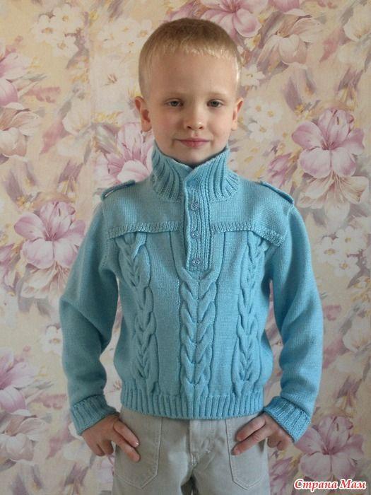 """Довязался наконец-то пуловер сыночку. Вещь получилась в меру тонкая, как раз под курточку. Деть доволен, уже всем в саду успел похвастаться. Как сказала наша бабушка """"девки, держитесь!"""""""