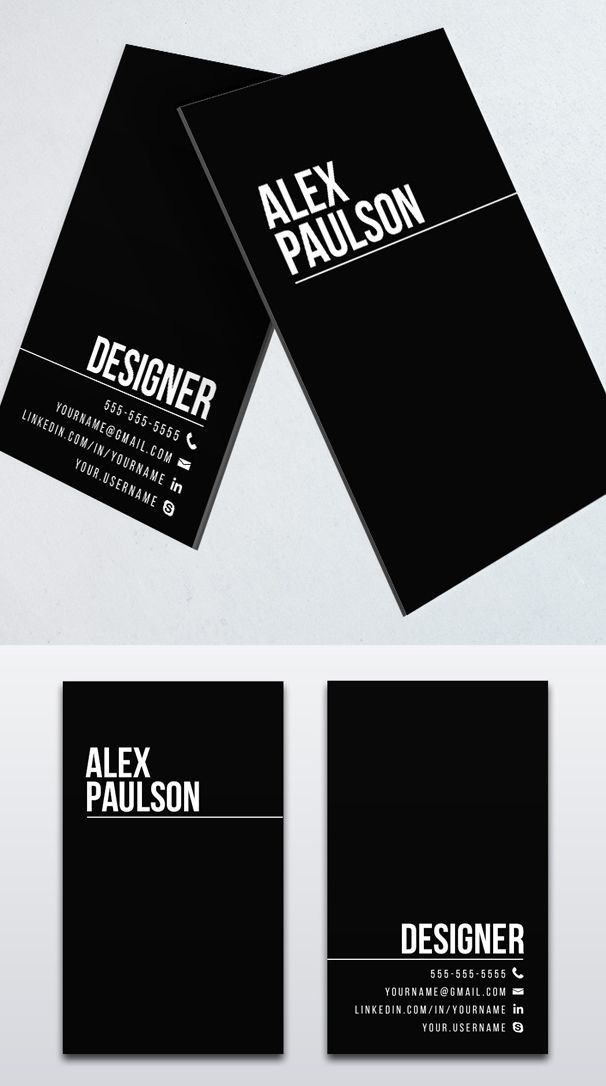 Black Business Card Design #branding #businesscardtemplates #businesscards #visitingcard