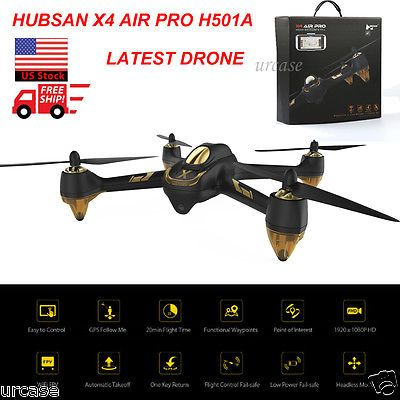 ﹩279.83. Hubsan 501A X4 Air Pro Drone GPS, Camera, 1Key, Follow, WiFi, Waypoint, Alt Hold   Fuel Type - Electric, Required Assembly - Ready to Go/RTR/RTF (All included), Color - Black, Material - Plastic, Shipment - US Free Ship with Tracking No., Warranty - 180 Days Warranty, UPC - 704779356763