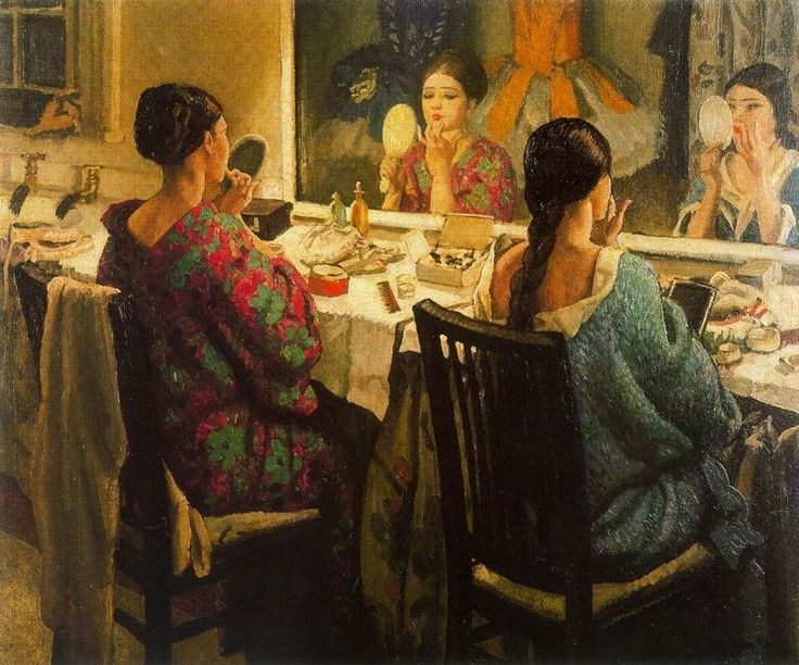 The Athenaeum - The Dressing-Room (Laura Knight - No dates listed)