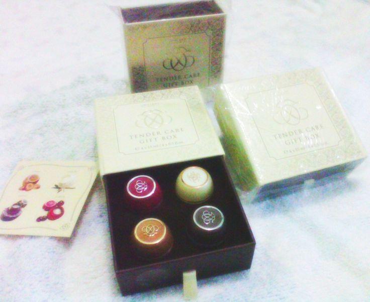 tender care box gift. Ada 4 varian tender care : vanilla,coconut,caramel dan cherry