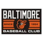 MLB Baltimore Orioles Black 1 ft. 7 in. x 2 ft. 6 in. Accent Rug