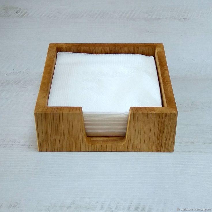 Салфетница из дуба (145х145х50мм) – купить в интернет-магазине на Ярмарке Мастеров с доставкой